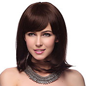 Capless moyen Droite 100% Human Hair Wigs avec 2 couleurs au choix