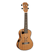 TOM - (TUC-260) Panda Sculpted Acoustic Sound Hole Mahogany Concert Ukulele with Bag