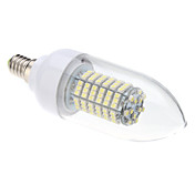 E14 8W 138x3528SMD 620LM 6000-6500K Natural White Light LED Candle Bulb (220V)