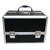 Black 3 Bakker Smykker comestic Organisering Makeup Train Case Aluminum Box