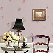 Country Style Floral PVC Wall Paper 1301-0036