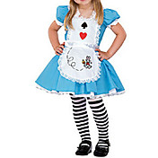 Cute Little Girl Blue and Whtie Cotton Kids Costume(3 Pieces)