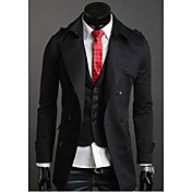 Mænds dobbelt breasted Cotton Lapel Overcoat