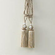 Classic Khaki Polyester Tassel (One Pair)