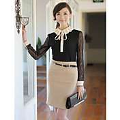 Women's Pencil Skirt with Belt
