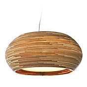 25W Rustic Pendant Light mit Globe Papier Shade in Lantern Design-