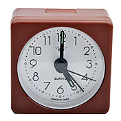 Plastic Square Analog Alarm Clock (Brown)