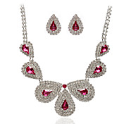 Beautiful Alloy With Rhinestones Jewelry Set,Including Necklace And Earrings