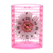 "5"" Chrysanthemum Style Pencil Vase Analog Alarm Clock (1xButton Battery)"