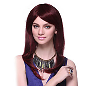 Capless 100% Human Hair Long Straight Red Hair Wigs