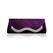 Elegant Velvet with Crystal Evening Handbag/Clutches(More Colors)