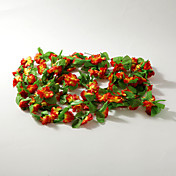 2m (6.5ft)Red Carnation Vine Decoration