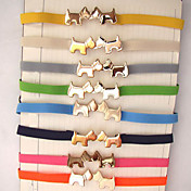 Fashion Color Simple femmes Embrasser Chien Médaille Buckle Belt 2