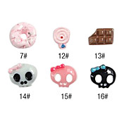 10PCS 3D Resin Finger Nail Decorations Ice Cream Series No.3(Assorted Color)