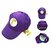 Cosplay Cap Inspired by Super Mario Waluigi Purple