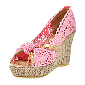 Cloth Wedge Heel Sandals With Hollow-out Party / Evening Shoes (More Colors)