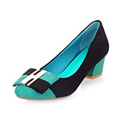 Suede Low Heel Closed Toe With Bowknot Party / Evening Shoes (More Colors)