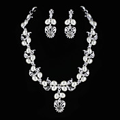 Alloy With Rhinestone / Imitation Pearl Women's Jewelry Set Including Necklace,Earrings
