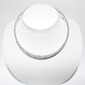 Double Row High Grade Crystal Ketting
