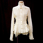 Long Sleeve Cotton Princess Lolita Blouse with Ribbons