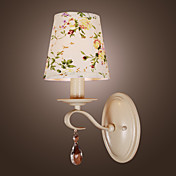 Polyresin Wall Light - Enamel Painted Shade