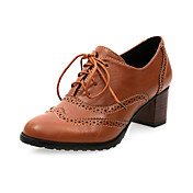 Leatherette Chunky Heel Lace-ups med blonder-up Party / Evening Sko (Flere farver)