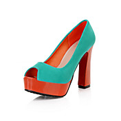 Suede Chunky Heel Pumps Party / Evening Shoes (More Colors)