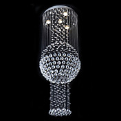 Contemporary Crystal Beaded Ceiling Light with Warm Yellow Light Source