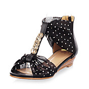 Chic Leatherette Low Heel Sandals With Zipper Party / Evening Shoes (More Colors)