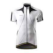 SPAKCT 100% Polyester Professional Breathable Bicycle Jersey for Men(White)csy201b