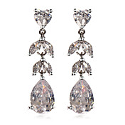 Elegant Platinum Plated Cubic Zirconia Earrings(More Colors)