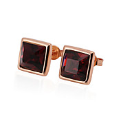 Classic Rose Gold/Platinum Plated Square Crystal Earrings(More Colors)
