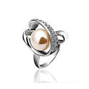 Gorgeous Rose Gold/Platinum Plated Pearl Ring(More Colors)