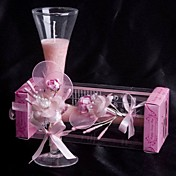 Pale Pink Rose &amp; Calla Lily Glass Candle Holder