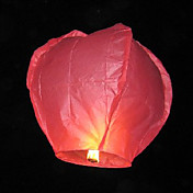 Hjerte-form Flying Sky Wishing Lantern Kongming Light (7-Farge / Pack)