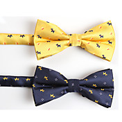 Men's Fashion Dog Pattern Pure Color Bow-tie