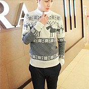 Men's Round Animal Print Knitwear Sweater