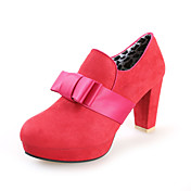 Suede Chunky Heel Pumps With Bowknot Party / Evening Shoes (More Colors)