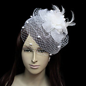 Beautiful Flannelette With Feather/Tulle Women's Wedding Fascinators