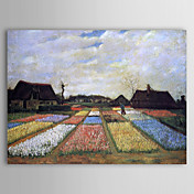 Bermte oljemaleri Blomsterbed-in-holland av Van Gogh