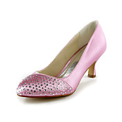 Moda cetim stiletto peep toe com strass sapatos de casamento (mais cores)
