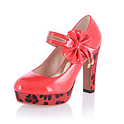 Leatherette Chunky Heel Pumps With Bowknot Party / Evening Shoes (More Colors)