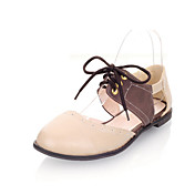 Leatherette Low Heel Closed Toe With Lace-up Party / Evening Shoes (More Colors)