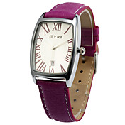 Lovely PU Glass Rectangle Women's Watches More Colors