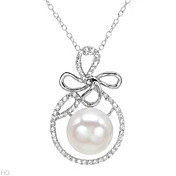 18 Inch Gorgeous Brand New Freshwater Pearl Sterling Silver Necklace
