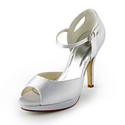 Pretty Satin Stiletto Heel Sandals / Peep Toe With Buckle Wedding Shoes (More Colors)