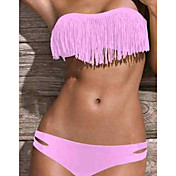 Kvinnors rosa Bandeau Axelbandsls Acacia Bikini
