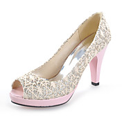 Chic Lace Stiletto Heel Pumps With Split Joint Party / Evening Shoes (More Colors)