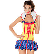 Cute Sexy Baby Yellow and Red and Blue Spandex Dress Fairy Tales Costume