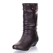 Chic Leatherette Wedge Heel Mid-Calf Boots With Chain Party / Evening Shoes (More Colors)